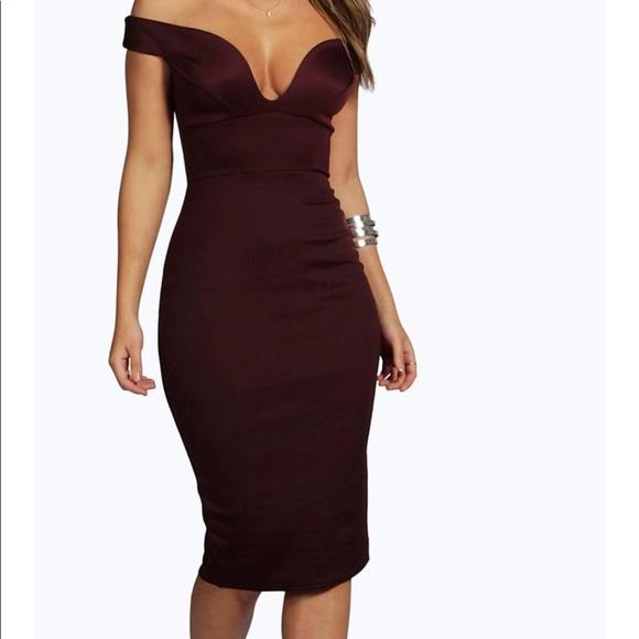 9007df89ec24 Boohoo Dresses | Sweetheart Off The Shoulder Bodycon Dress | Poshmark